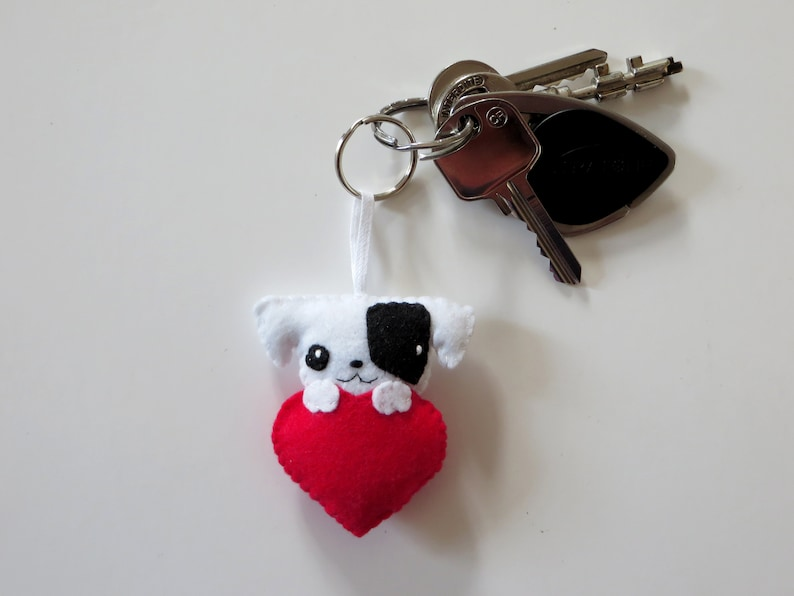 Jack Russell dog keychain in felt handmade image 0