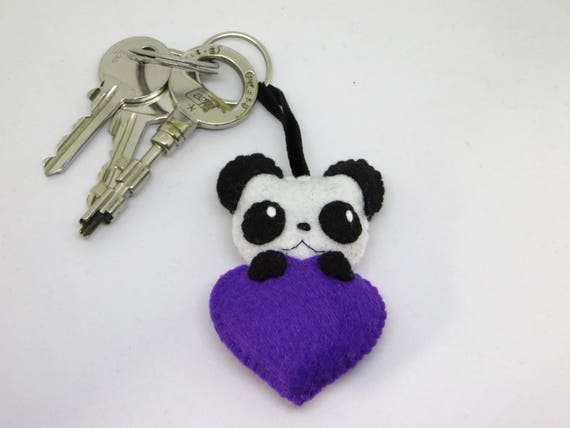 Panda gifts panda felty best friend gift plush keychain  b40bd77efc