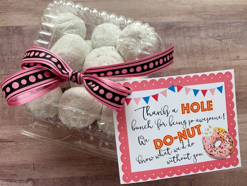 INSTANT DOWNLOAD Donut Appreciation Printables Holes Thank You image 0