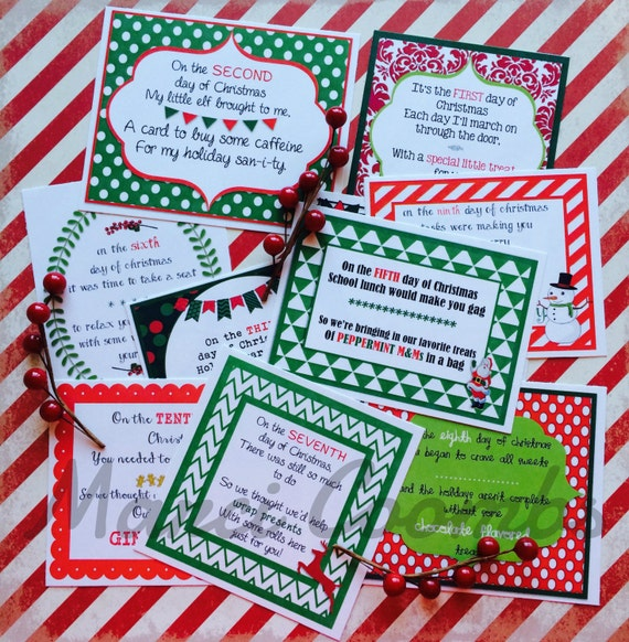 12 Days of Christmas Printable Tags Labels for Teachers | Etsy