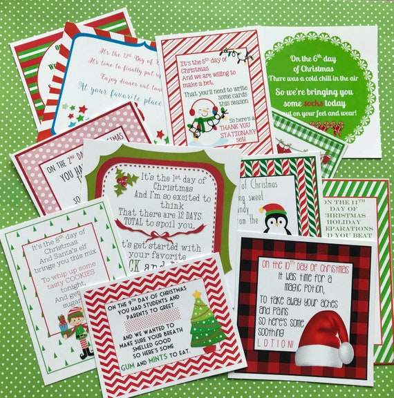NEW 12 Days of Christmas Printable Tags Labels for ...