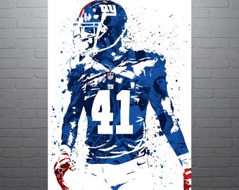Dominique Rodgers-Cromartie New York Giants Sports Art Print 63883eb5384