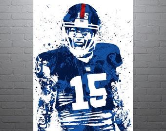Odell Beckham Jr New York Giants Sports Art Print Football 2c9da182de9