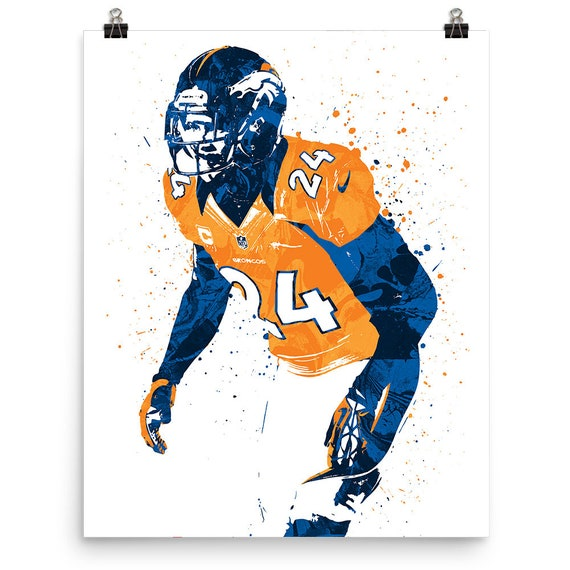 Champ Bailey Denver Broncos Sports Art Print Football Poster | Etsy