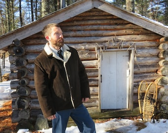 Canadian Union Made! Great Vintage Corduroy Faux Shearling Coat. Men's 46 Large. See Details.