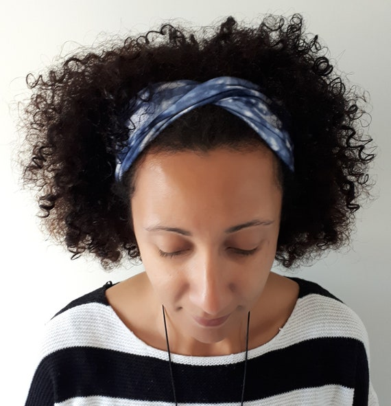 Funky Twist Style Yoga Headbands Blue waters  7282867ceb8