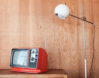 Mid Century Zenith TV - AC/DC Retro Orange, Model K092V, Tested & Working