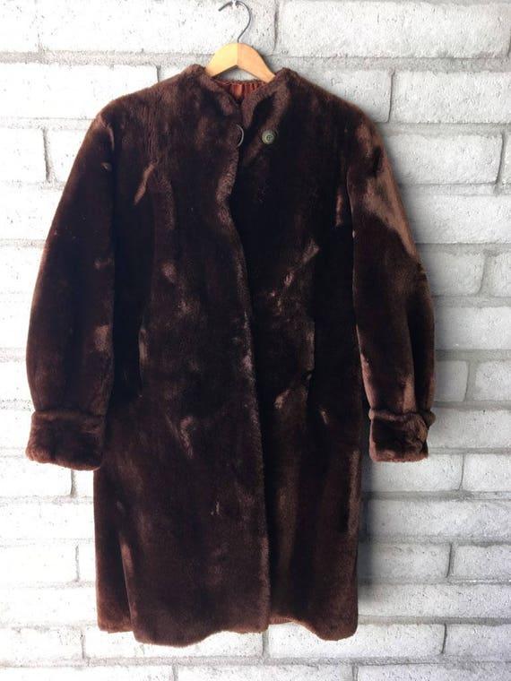 1940's Beaver Balloon Sleeve Fur Coat