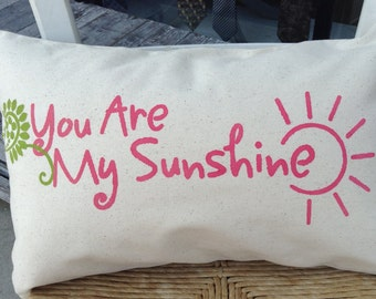 You Are My Sunshine/Custom Pillow/Couples Gift/Engagement Gift/Anniversary Gift/ Personalized Gift/Wedding Shower Gift/Baby Nursery Decor