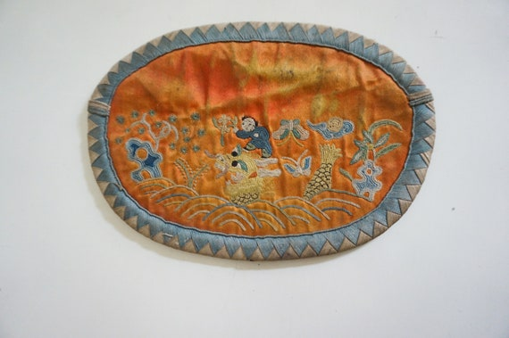 Embroidered antique purse. China