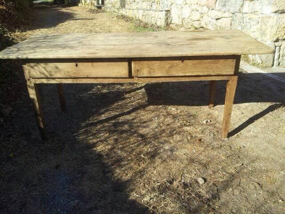Mesa de cocina mesa tocinera antigua hecha a mano en madera | Etsy