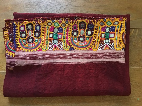 Bridal Mantle ? India. Embroidered fabric ? India