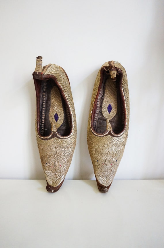 Embroidered antique shoes