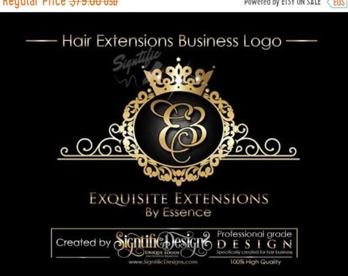 Virgin Hair logo design, Hair Extensions Logo, Hair Business Logo, Hair Tag Logo, Hang Tag Logo Design, Logo with frame, Packaging Logo