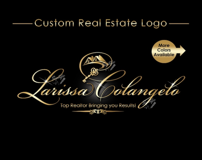 Real Estate Logo, Realty Logo, Business Logo, Gold Logo, Key Logo, Home Logo, Estate Business Logo, Logo Design, Home Key Logo