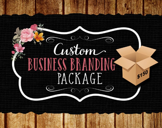 Custom Business Branding Package, Logo Design, 3 Vector File Formats for Printing, 1000 Business Cards with Free Shipping