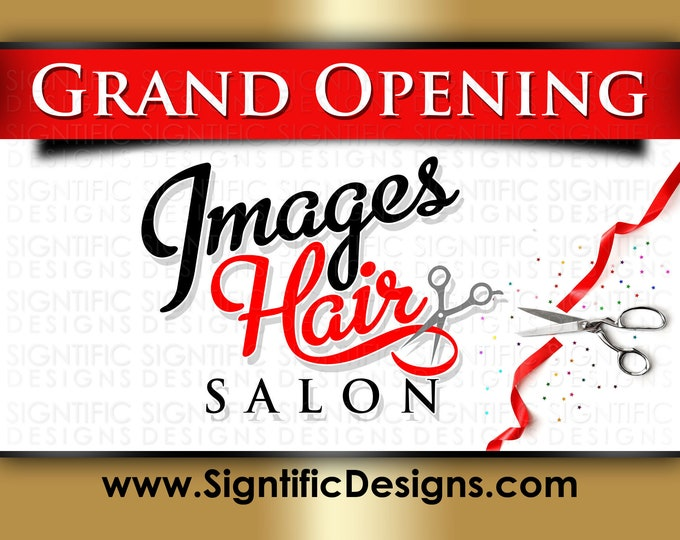 Grand Opening Banner, Full Color Banner, New Business Banner, Shop Banner, Printed Banner, Outdoor Banner, Store Banner, Storefront Banner
