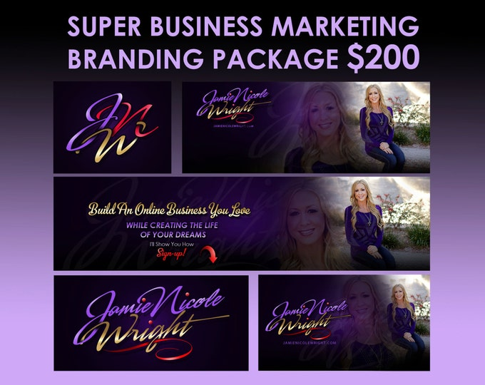 Business start-up promotion design package, business branding package, logo design pack, online branding package, business logo bundle, OOAK
