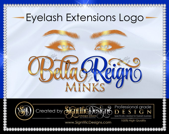 Eyelash Extensions Logo, Lash Logo, Eyelash Business Logo, Mink Lashes Logo, Eyelash Branding, Business Logo Design, Eye Lash Extension Logo
