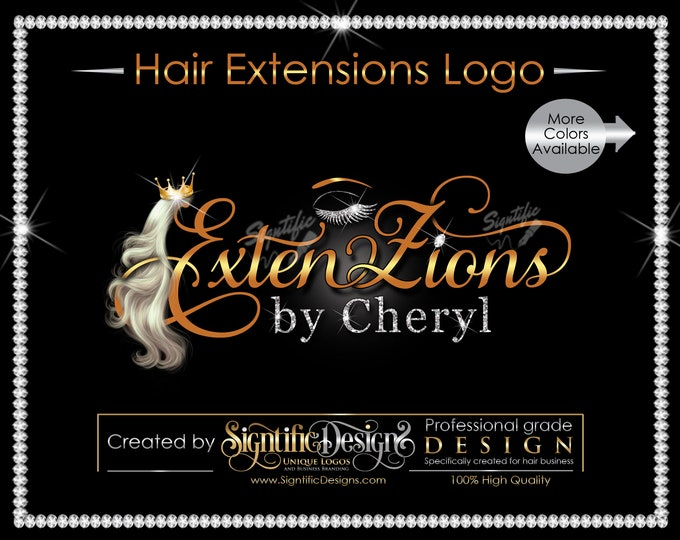 Hair Extensions Logo, Hair and lash logo, Hair Logo, Hair Business Logo, Hair Tags Logo, Hair Company Logo, Hair Bundle Logo, Eyelash Logo