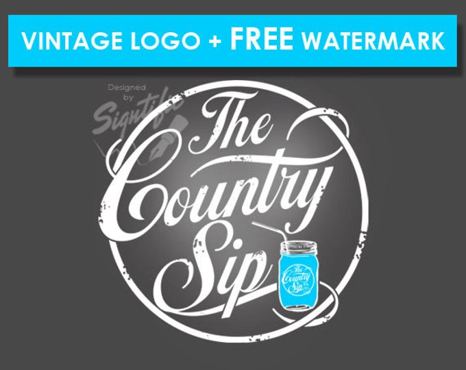 Vintage Product Label Design, Circular Logo, Logo Design, Custom Logo, Logos, Logo Custom, Chalk Logo, Graphic Designer, Small Business Logo