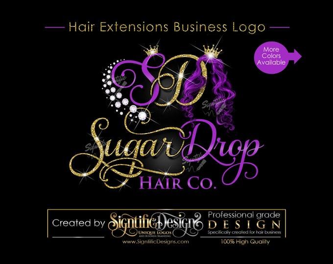 Hair Extensions Logo, Hair Brand Logo, Hair Logo, Bling Hair Brand, Diamonds Hair Logo, Logo Rebranding, Logo Revamp, Logo Update, Mane logo