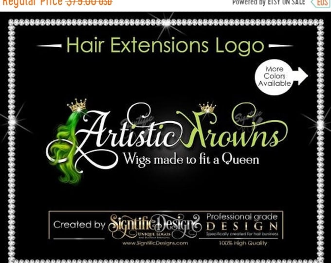 Hair Extensions Logo, Hair Business Logo, Virgin Hair Logo, Hair Logo, Hair Tags Logo, Hair Company Logo, Hair Bundle Logo, Hair Branding