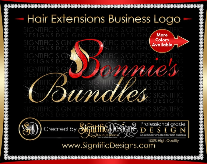 Hair Extension Logo, Hair Business Logo, Hair Logo, Hair Brand, Extensions logo, Wig Business Logo, Bling Logo, Hair Company Logo, Branding