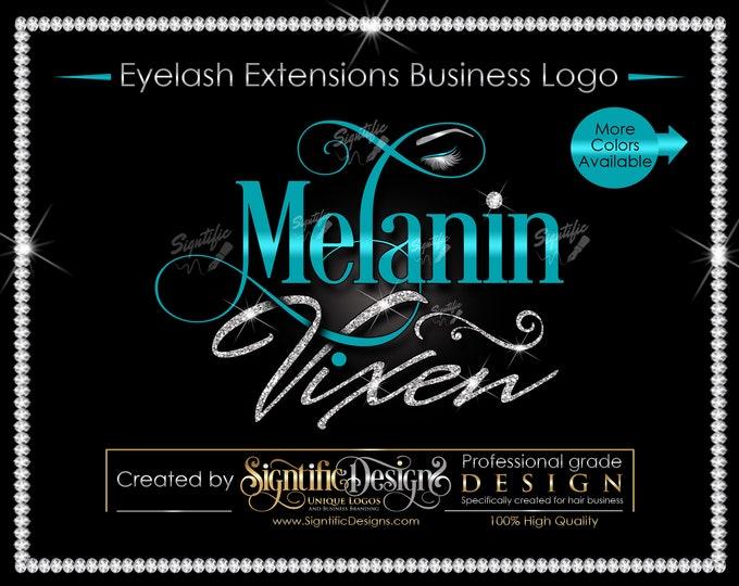 Eyelash Extensions Logo, Custom Eyelash Logo, Eyelash Business Logo, Lashes Logo, Lash Brand, Glitter Lash logo, Shimmer Logo, Lash Branding