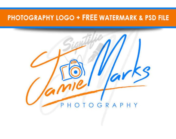 Photography camera logo, free watermark and PSD source file, photographer logo, photograph watermark, camera logo custom design