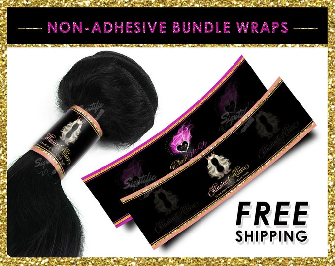 Non Adhesive Wraps, Hair Bundle Wraps, Hair Extension Wraps, Bundle Packaging, Virgin Hair Wraps, Hair labels, Wraps for Hair, Tresses Wraps