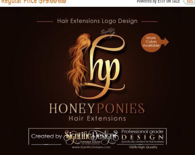Hair Extensions Logo, Initials Logo, Virgin Hair Logo Design, Hair Collection Logo, Hair Strands Logo, Hair Bundle Logo, Hair wigs logo