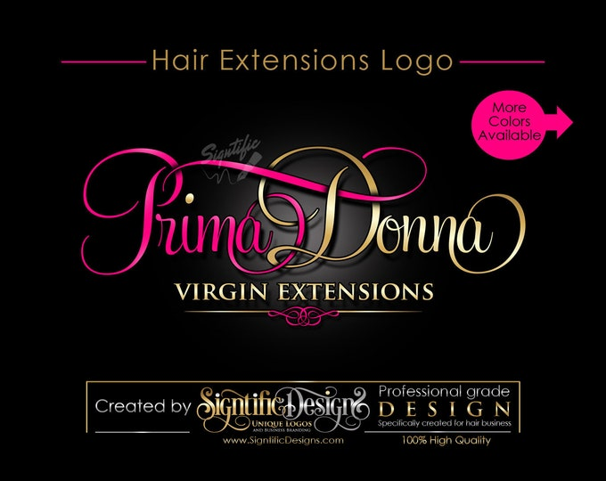 Hair Extensions Logo, Hair Logo, Virgin Hair Logo, Hair Tag Logo, Hair Bundle Logo, Hair Wrap Logo, Hair Bag, Logo for Hair, Logo, Branding