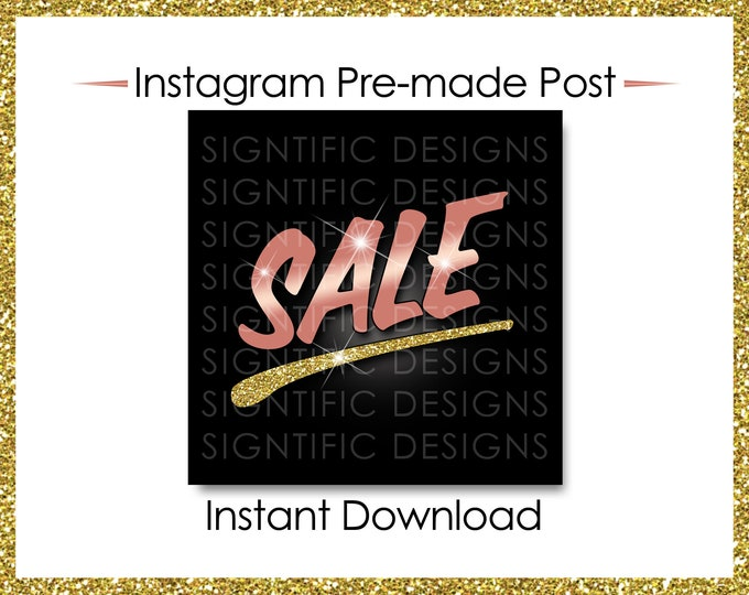 Instant Download, Sale, Hair Business Flyer, Hair Extensions Flyer, Instagram Post, Instagram Flyer, Rose Gold Glitter Gold Flyer, Sale Post