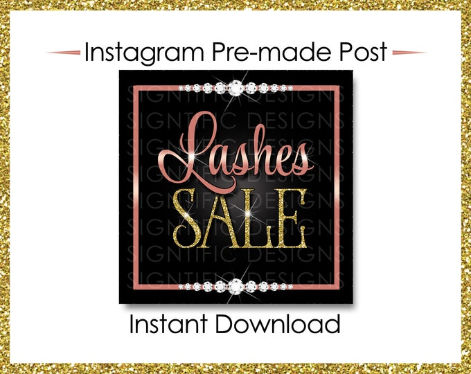 Instant Download, Lashes Sale, Eyelash Extension Flyer, Lashes Flyer, Social Media Flyer, Instagram Post, Lash Business Flyer, IG post