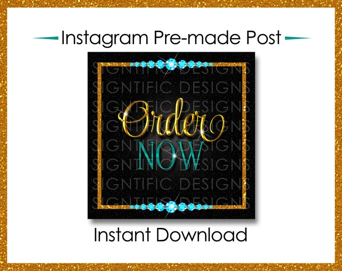 Instant Download, Order Now, Hair Extensions Flyer, Instagram Post, Gold and Teal Flyer, Digital Online Flyer, Glitter Bundle Flyer Post