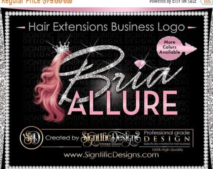 Hair Extensions Logo, Hair Bundle Business Logo, Glitter Hair Logo, Hair Logo, Crown Hair Logo, Hair Tags Logo Design, Wig Business Logo