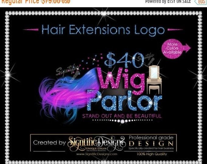 Hair Extensions Logo, Hair Bundle Business Logo, 2 Color Hair Logo, Flowing Hair Logo, Glitter Hair Logo, Bundle Glitter Logo, Shimmer Logo