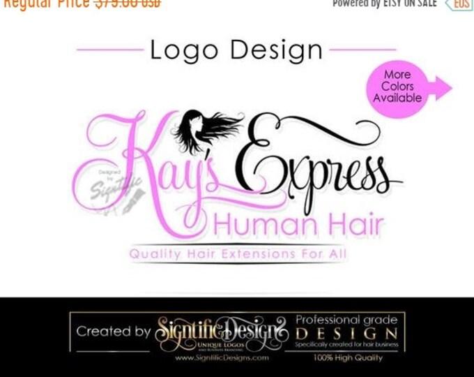 Hair Extension Logo, Hair Business Brand, Hair Branding, Hair Bundle Logo, Hair Packaging Logo, Hair Tag Logo, Hair Silhouette Logo, Brand