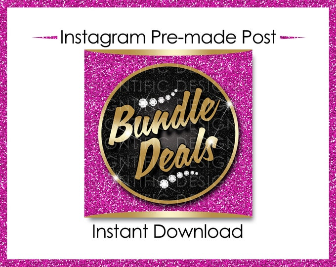 Instant Download, Bundle Deals, Gold and Pink, Hair Extensions Flyer, Instagram Caption, Premade Online Flyer, Instagram Flyer, Hair Flyer