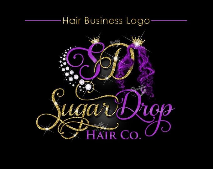 Hair Extensions Logo, Hair Brand Logo, Hair Logo, Bling Hair Brand, Diamonds Hair Logo, Logo Rebranding, Logo Revamp, Logo Update, Wig logo