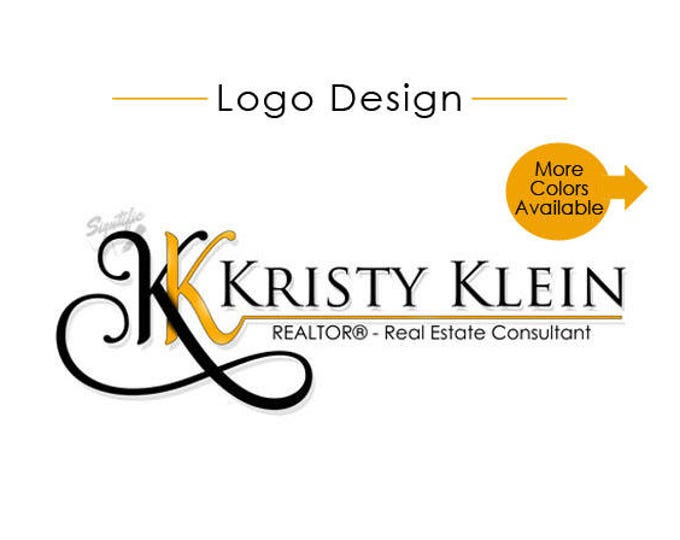 Real Estate Agent Logo Design, Custom Name Logo, Logo for e-mail Signature, Business Logo, Name Signature with initials monogram