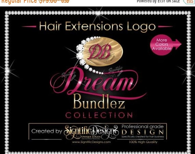Hair Extensions Logo, Hair Bundle Logo, Diamond Logo, Hair Brand, Hair Business Logo, Logo Revamp, Bundle Logo Creation, Hair Packaging Logo