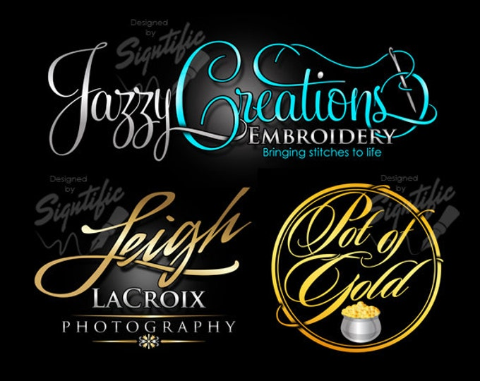 Logo design, logos, custom logo, business logo in any colors, signature text logo, cursive logo lettering, calligraphy logo, product label