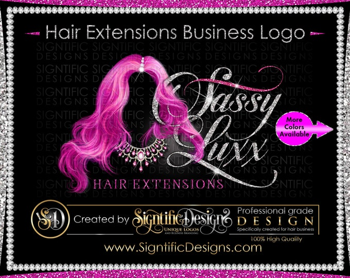Hair Extension Logo, Hair Glitter logo, Packaging Logo, Hair Branding, Bundle Logo, Bling Hair Logo, Hair Shimmer Logo, Hair Business Logo