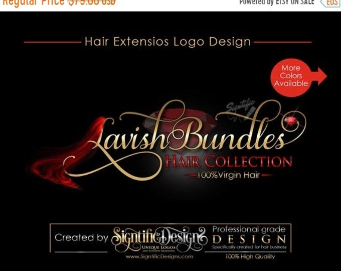 Hair Extensions Logo, Virgin Hair Logo Design, Hair Collection Logo, Hair Bundle Logo, Hair Tag Logo, Hair Strands Logo, Hair Business Logo