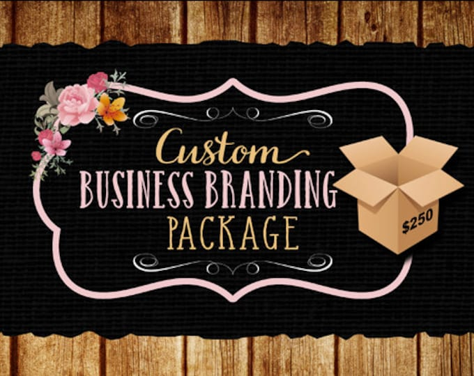 Custom business branding package, logo, web banner, social media headers, business card design, watermark, etsy banner free PSD file