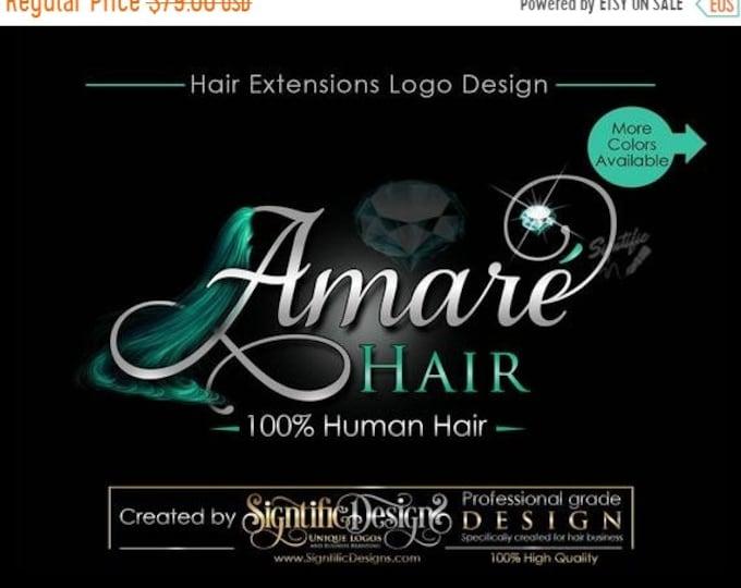 Hair Extensions Logo, Virgin Hair Logo, Hair Collection Logo, Hair Bundle Logo, Hair Branding Logo, Brand, Packaging Logo, Hair Tags Logo