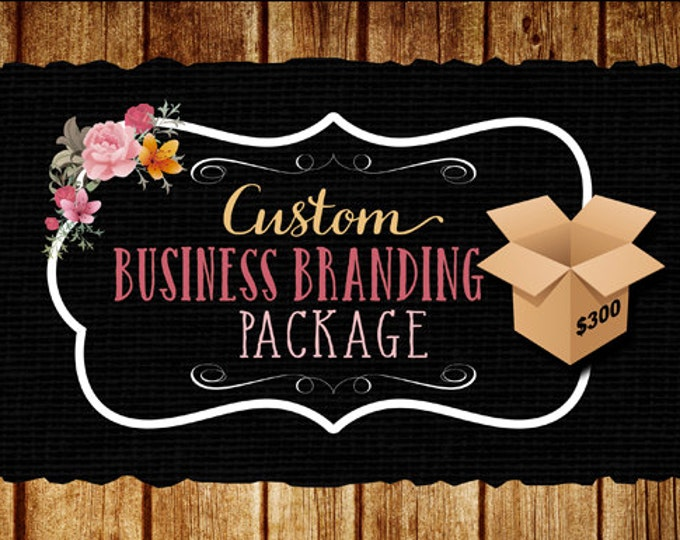 Custom business branding package, logo design, round label design, matching etsy and social media banners, matching hair tag design