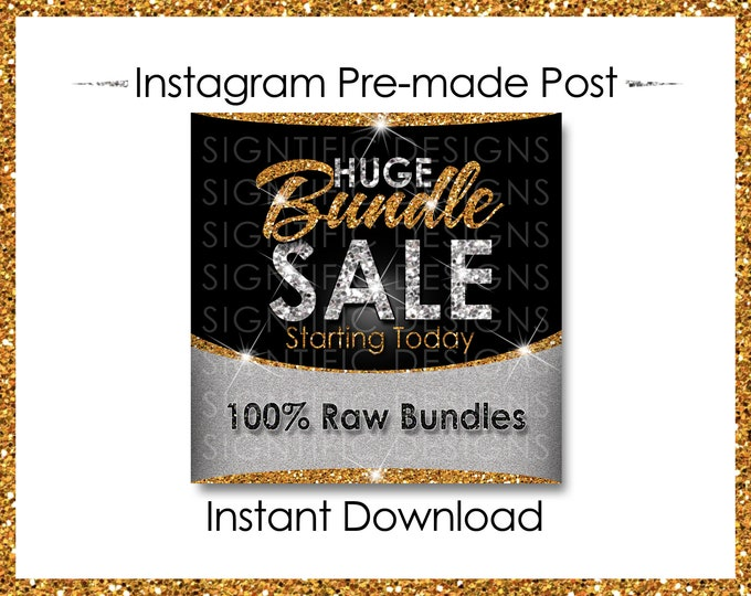 Instant Download, Huge Bundle Sale, Hair Extension Flyer, Instagram Post, Digital Flyer, Glitter Gold Silver, Instagram Flyer, IG Post Flyer